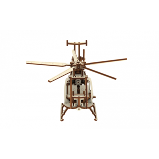 Wooden city helicopter 24x12x30,5cm