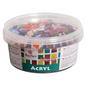 Acryl mozaïekstenen mix, glitter, 1x1cm, 300g