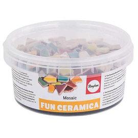 Fun ceramica mozaïek mix, polygonaal, Regenboog