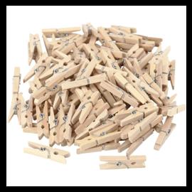 Mini wasknijpers, afm 30x3 mm, 100 stuks, berkehout