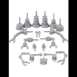 Robot onderdelen, afm 0,5-6 cm, 19 assorti, grijs