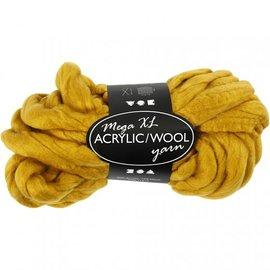 acrylic/wool, Oker, L: 15 m, size mega , 300 g