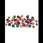 Belletjes - Assortiment, d: 10+14 mm, 24 assorti, metallic kleuren