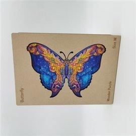 Houten Puzzel Papillon (198 stukjes/19x26 cm) **