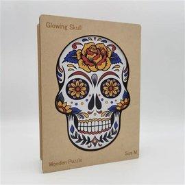 Houten Puzzel Glowing Skull (201 stukjes/22x22 cm) **