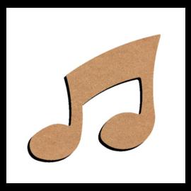 MDF Figuur Dubbele Muzieknoot 10 cm