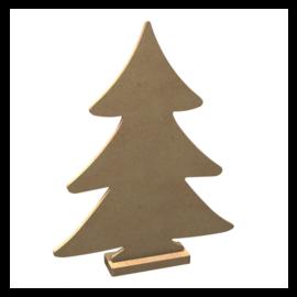 MDF Figuur Kerstboom met Sokkel 26 cm