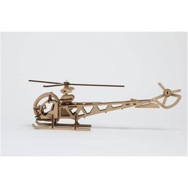 Bouwset Helikopter in hout 11x36cm