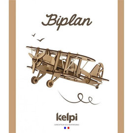 Bouwset Vliegtuig in hout 28.5x32cm