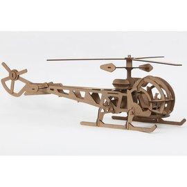 Bouwset Helikopter XL in hout 72x22cm