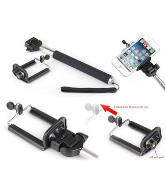 Selfie camera monopod holder