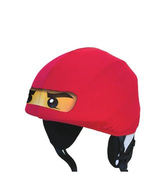Ninja ski helmet cover red