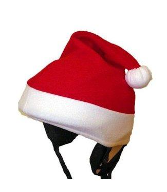 Santa hat ski helmet cover