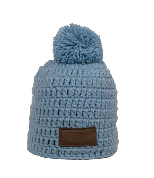 55f90136 Poederbaas Beanie daily life - Light Blue crocheted Ski Hat - Wintersport -store.com