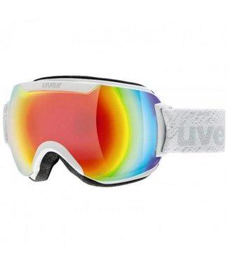 Uvex Downhill 2000 FM mat blanc / Cat. 3 lentilles multicolores