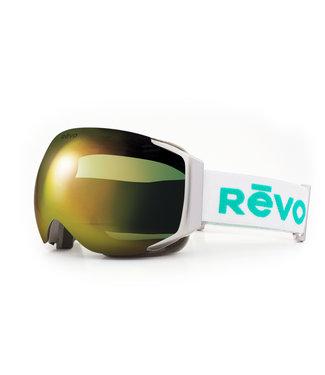 RĒVO Goggles Loki Brille Weiß / Grün