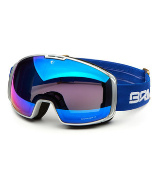Briko Nyira Free Fighter 7.6 Ski Goggles With 2 Lenses Silvr Bl Gld - Bm3P1