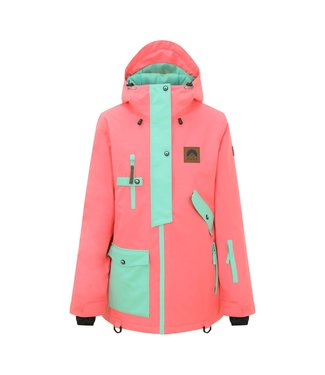 OOSC Women's jacket Coral & Mint 1080