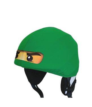 Ninja ski helmet cover green