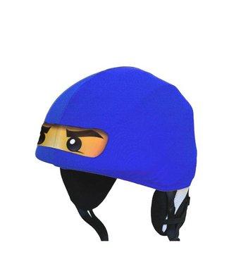 Ninja ski helmet cover blue