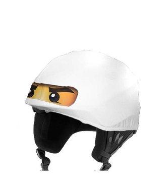 Ninja ski helmet cover white