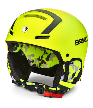 Briko Faito Ski helmet Y016 Yellow Fl-Black