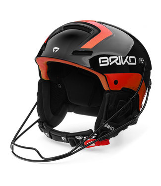 Briko Slalom Helmet Shiny Black Orange