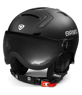 Briko Stromboli Visor Photo Helmet Shiny Matt Black
