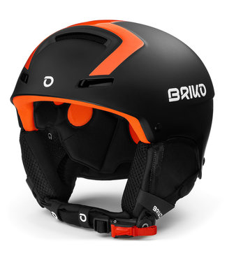 Briko Casque Faito Fluid Inside Matt Black Orange F