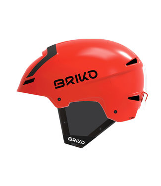 Briko Casque Faito Fluid Inside Orange Mat FL Noir
