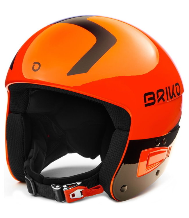 Briko Vulcano Fis 6.8 Junior Helmet SH Orange Fluo Black