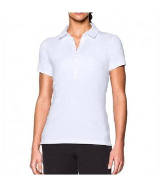 Under Armour Zinger SS Polo-WHT Short-Sleeve Polos White