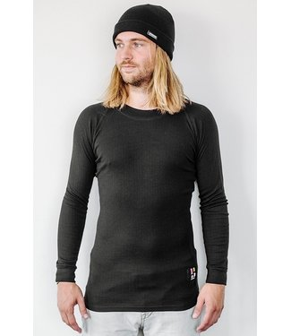 Poederbaas Pro Thermo Baselayer Shirt Mannen Zwart