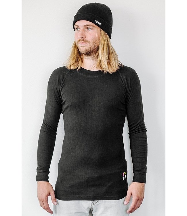 Poederbaas Pro Thermo Baselayer Shirt Mannen Zwart