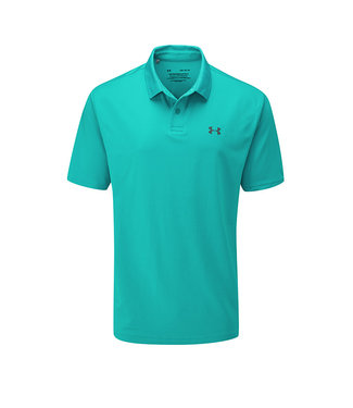 Under Armour Performance Polo 2.0 Teal Rush / Logo Pitch Gris