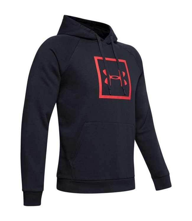 Under Armour Rival Fleece Logo Hoodie Black Vapor Green