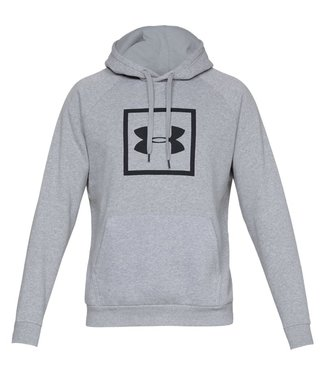 Under Armour Rival Fleece Logo Hoodie Gray Steel