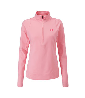 Under Armour Midlayer with 1/2 zipper W - Lipstick Roze
