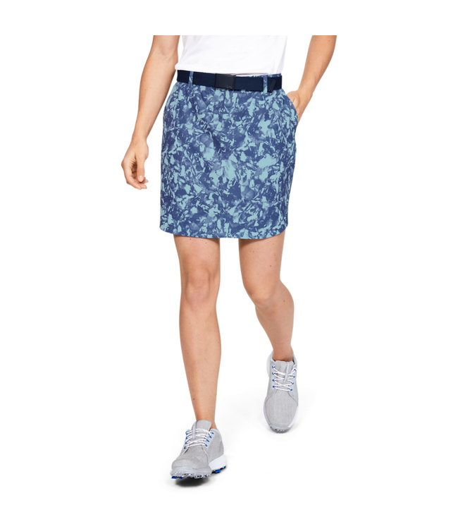 Under Armour Woven Printed Skort-Blue Frost