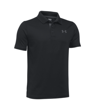 Under Armour UA HG PERFORMANCE POLO ZWARTE JONGENS