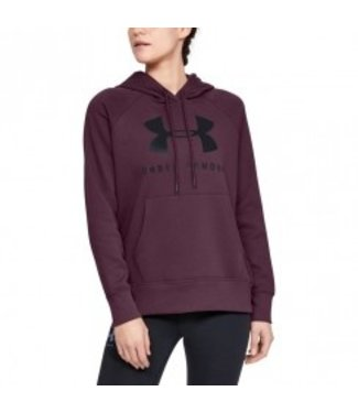 Under Armour RIVAL FLEECE SPORTSTYLE GRAPHIC HOODIE - Level Purple / / Black