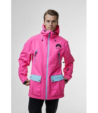 OOSC Veste de ski rose électrique