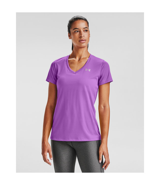 Under Armour Tech SSV - Solid-Exotic Bloom Paars