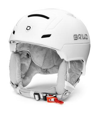 Briko Casque de Ski Ambra Matt SH Pearl White