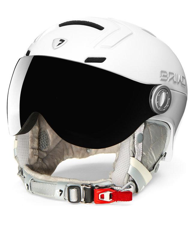 Briko Casco de esquí Ambra Pearl White