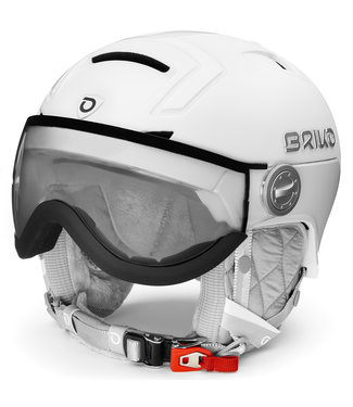 Briko Ambra Visor Photo Skihelm Matt SH Pearl White Black