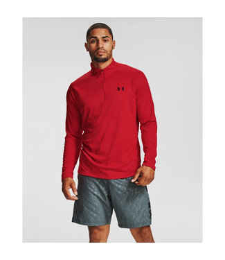 Under Armour UA Tech 2.0 1/2 Zip-Red / / Black