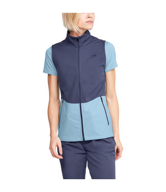 Under Armour Soft Shell Vest-Blue Ink / Blue Frost / Blue Ink