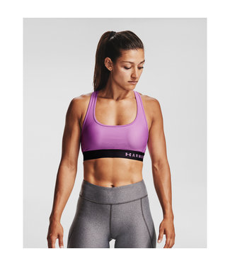 Under Armour Armour Mid Crossback Bra-Exotic Bloom / Black / Exotic Bloom