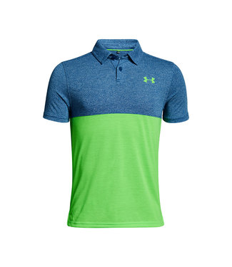 Under Armour THREADBORNE BLOCKED POLO MOROCCAN BLUE/POIS0N